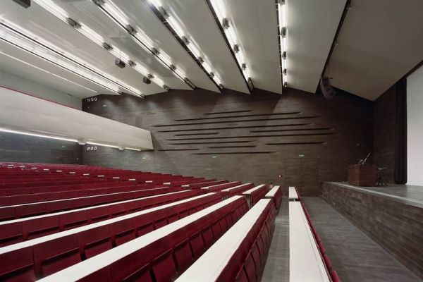 Audimax at Vienna University, Remodelling by Architect Roger Baumeister, Vienna, Austria.