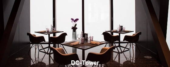 Raumakustik in Restaurants: DC-Tower - Trikustik