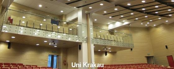 Hörsaal Raumakustik: Uni Krakau - Trikustik