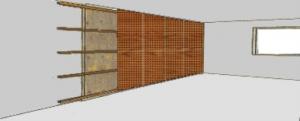 Holzunterkonstruktion für Akustikdecke aus Holz - Trikustik
