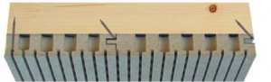 Nutplatten für Akustikdecke aus Holz - Trikustik