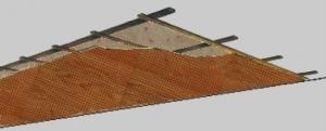 Traglattung zur Montage der Akustikdecke befestigen - Trikustik